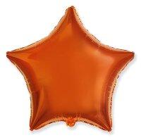 Шар (18''/46 см) Звезда, Оранжевый, 1 шт.