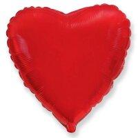Шар (18''/46 см) Сердце, Красный, 1 шт.
