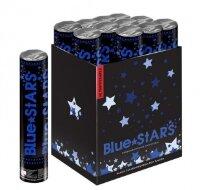 Пневмохлопушка (12/30 см), Металлизированные звезды, Синий, 1 шт.