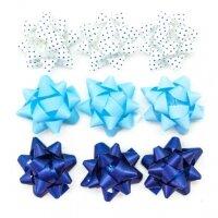 Бант Звезда, Голубой микс, 5 см, 25 шт.