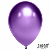 Шар (12''/30 см) Фиолетовый, хром, 50 шт.