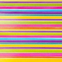 Упаковочная бумага (0,69*1 м) Радужные полоски, 1 шт.