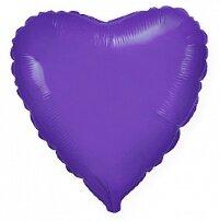 Шар (9''/23 см) Мини-сердце, Фиолетовый, 5 шт.