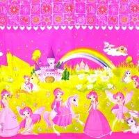 Скатерть, Принцессы, Розовый, 120*220 см, 1 шт.