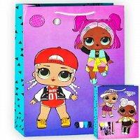 Пакет подарочный, Кукла ЛОЛ (LOL), Модные подружки, 31*22*10 см, 1 шт.