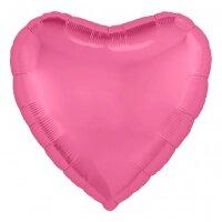 Шар (19''/48 см) Сердце, Розовый пион, 1 шт.