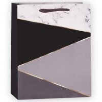 Пакет подарочный, Абстракция, Черный, 23*18*10 см, 1 шт.