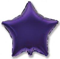Шар (9''/23 см) Мини-звезда, Фиолетовый, 5 шт.
