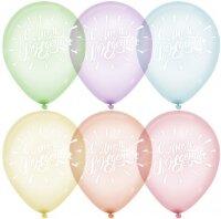 Воздушный шар (12''/30 см) С Днем Рождения!, Горный хрусталь, Ассорти, кристалл, 2 ст, 50 шт.