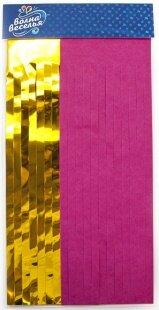 Гирлянда Тассел, Фуше/Золото, Металлик, 35*12 см, 10 листов.