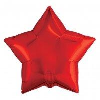 Шар (21''/53 см) Звезда, Красный, 1 шт.