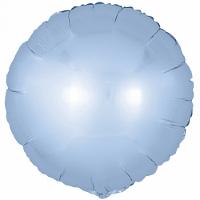 Шар (18''/46 см) Круг, Голубой, Сатин, 1 шт.