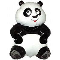Шар (13''/33 см) Мини-фигура, Большая панда, Белый, 5 шт.