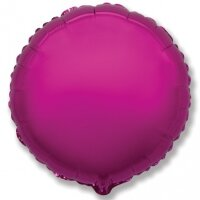 Шар (18''/46 см) Круг, Пурпурный, 1 шт.