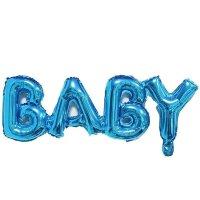 """Шар (32''/81 см) Фигура, Надпись """"Baby"""", Синий, 1 шт."""