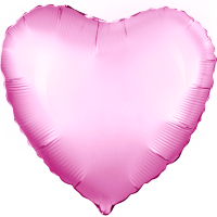 Шар (18''/46 см) Сердце, Розовый, 1 шт.