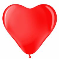 Сердце (12''/30 см) Красный (230), пастель, 100 шт.