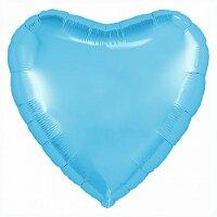 Шар (18''/46 см) Сердце, Холодно-голубой, 1 шт.