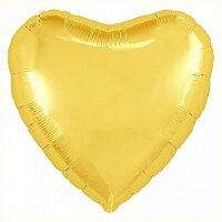 Шар (18''/46 см) Сердце, Светлое золото, 1 шт.