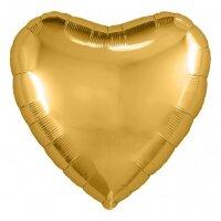Набор шаров с клапаном (9''/23 см) Мини-сердце, Золото, 5 шт. в упак.
