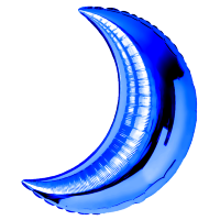 Шар (28''/71 см) Фигура, Полумесяц, Синий, 1 шт.