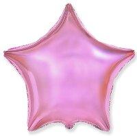 Шар (18''/46 см) Звезда, Светло-розовый, 1 шт.