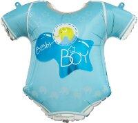 Шар (23''/58 см) Фигура, Боди для малыша мальчика, Голубой, 1 шт.