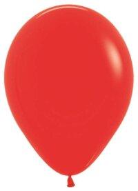 Шар (12''/30 см) Красный (015), пастель, 12 шт.
