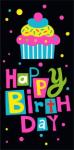 Конверты для денег, Happy Birthday! (разноцветный кекс), Черный, 1 шт