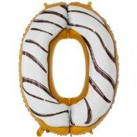 Шар (34''/86 см) Цифра, 0 Пончик, 1 шт. в упак.