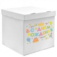 Наклейка С Днем Рождения! (вечеринка), 28*37 см, Разноцветный, 1 шт.