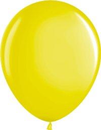 Шар (12''/30 см) Желтый (810), металлик, 100 шт.