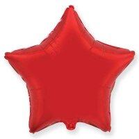 Шар (18''/46 см) Звезда, Красный, 1 шт.