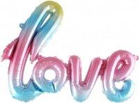 "Шар (41''/104 см) Фигура, Надпись ""Love"", Нежная радуга, Градиент, 1 шт."