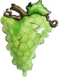 Шар (24''/61 см) Фигура, Виноград, Зеленый, 1 шт.