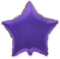Шар (18''/46 см) Звезда, Фиолетовый, 1 шт.