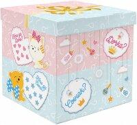 Коробка для воздушных шаров Гендер Пати, Голубой/Розовый, 60*60*60 см, 1 шт.
