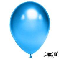 Шар (12''/30 см) Синий, хром, 50 шт.
