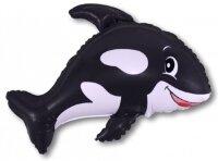 Шар (14''/36 см) Мини-фигура, Морская касатка, Черный, 1 шт.