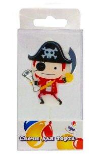 Свеча Фигура, Пират, 5 см, 1 шт.