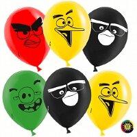 Шар (12''/30 см) Angry Birds, Ассорти, пастель, 2 ст, 50 шт.