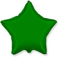 Шар (9''/23 см) Мини-звезда, Зеленый, 5 шт.