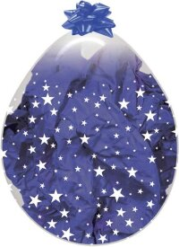 Шар для упаковки (18''/46 см) Звезды, Прозрачный (390), кристалл, 5 ст, 1 шт.