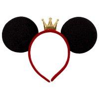 Ободок, Мышка Принцесса, Черный, с блестками, 1 шт.