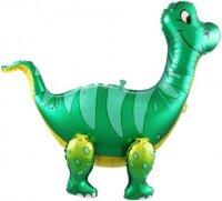 Шар (25''/64 см) Ходячая Фигура, Динозавр Брахиозавр, Зеленый, 1 шт. в упак.