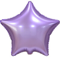 Шар (18''/46 см) Звезда, Сиреневый, Сатин 1 шт.