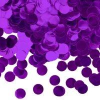 Конфетти фольга Круг, Фиолетовый, Металлик, 1 см, 50 г.