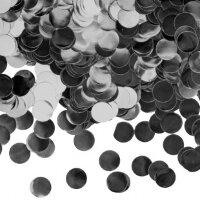 Конфетти фольга Круг, Серебро, Металлик, 1 см, 50 г.