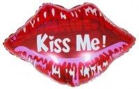 Шар (24''/61 см) Фигура, Губы, Поцелуй меня, 1 шт.