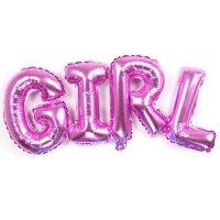 "Шар (44''/112 см) Фигура, Надпись ""Girl"", Розовый, 1 шт."